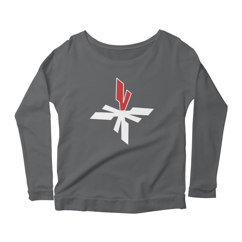 Vicious 4 V Cross Women's Scoop Neck Longsleeve T-Shirt by Vicious Factory