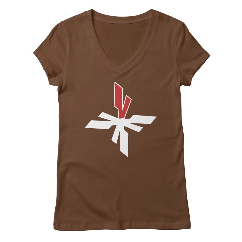 Vicious 4 V Cross Women's Regular V-Neck by Vicious Factory