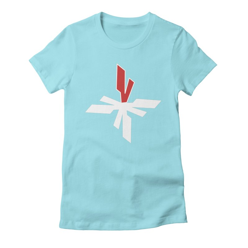 Vicious 4 V Cross Women's Fitted T-Shirt by Vicious Factory