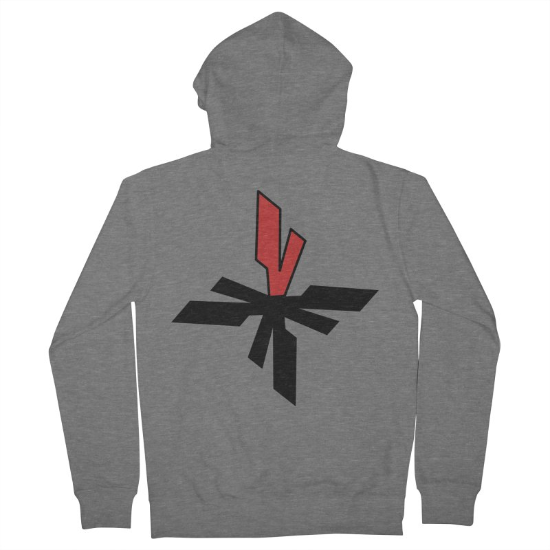 Vicious 4 V Cross Men's French Terry Zip-Up Hoody by Vicious Factory