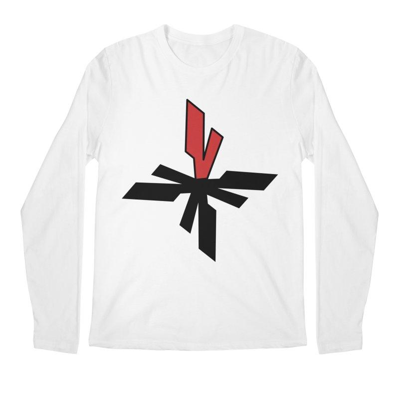 Vicious 4 V Cross Men's Regular Longsleeve T-Shirt by Vicious Factory