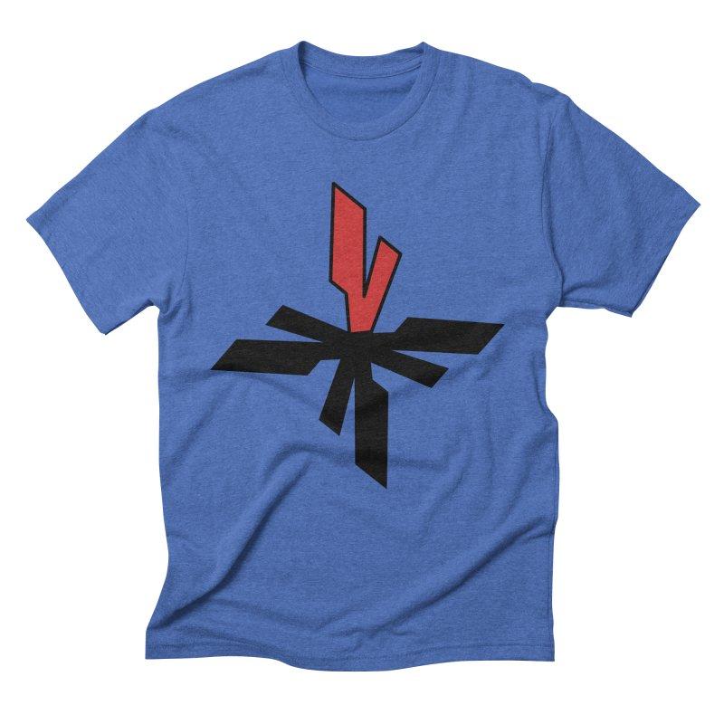 Vicious 4 V Cross Men's Triblend T-Shirt by Vicious Factory