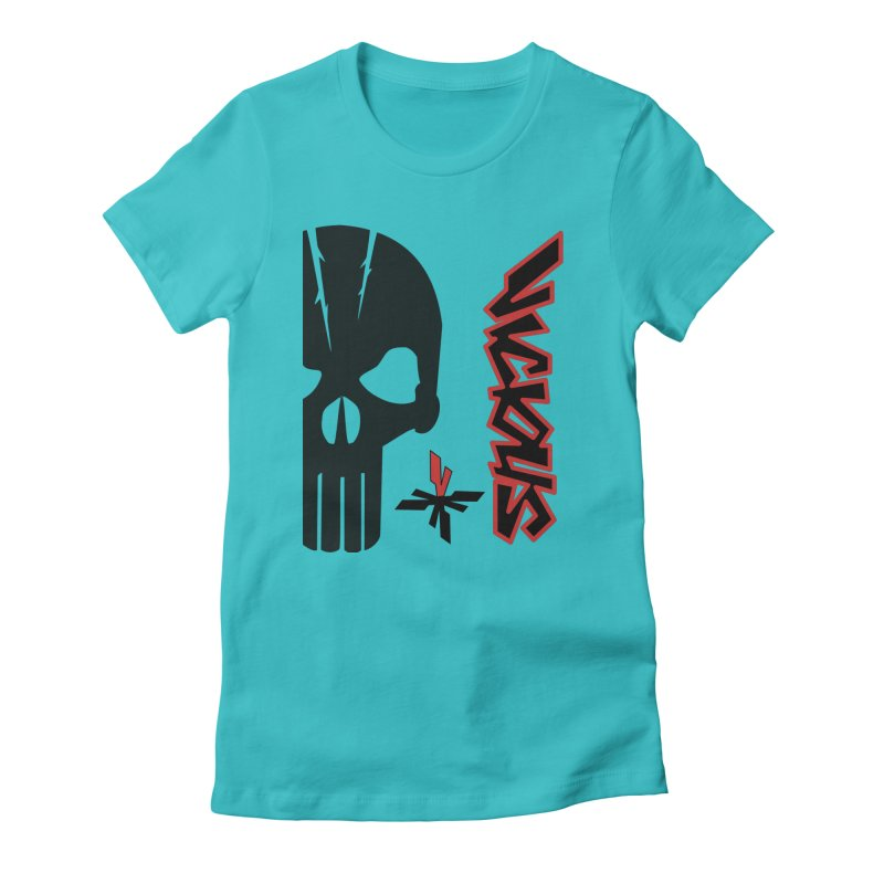 Vicious Punisher Women's Fitted T-Shirt by Vicious Factory