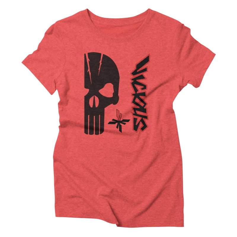 Vicious Punisher Women's Triblend T-Shirt by Vicious Factory
