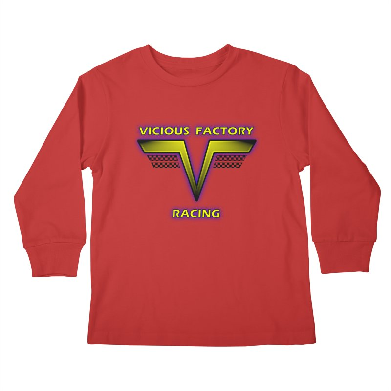 Vicious Flying V Kids Longsleeve T-Shirt by Vicious Factory