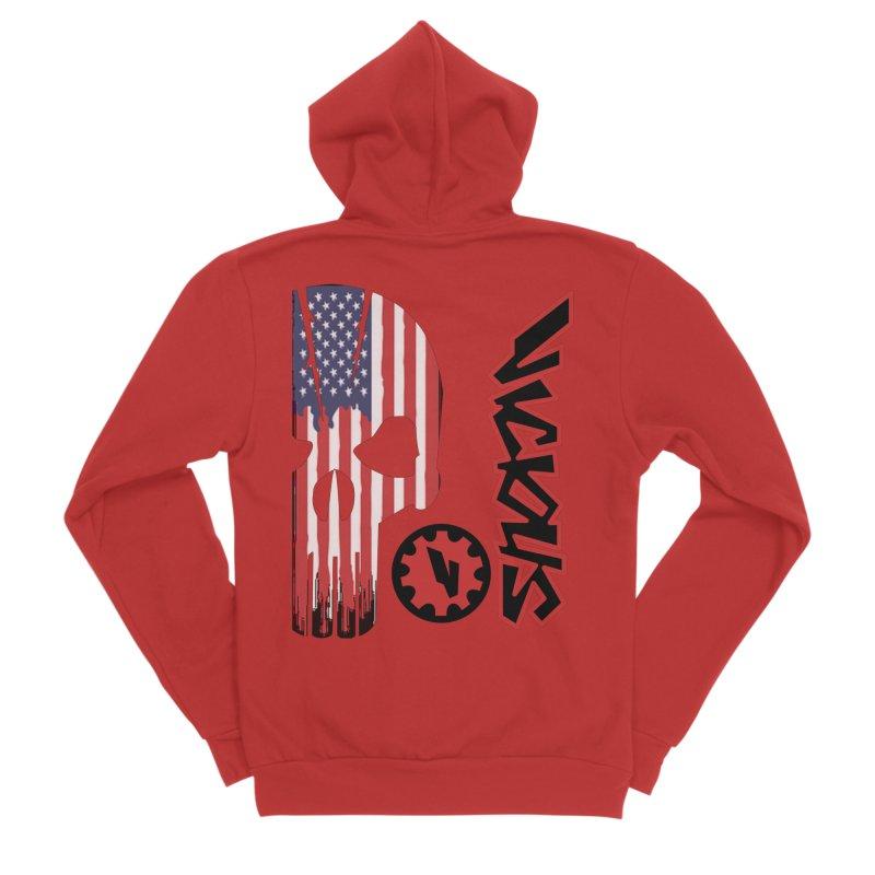 Made in the USA Men's Sponge Fleece Zip-Up Hoody by Vicious Factory