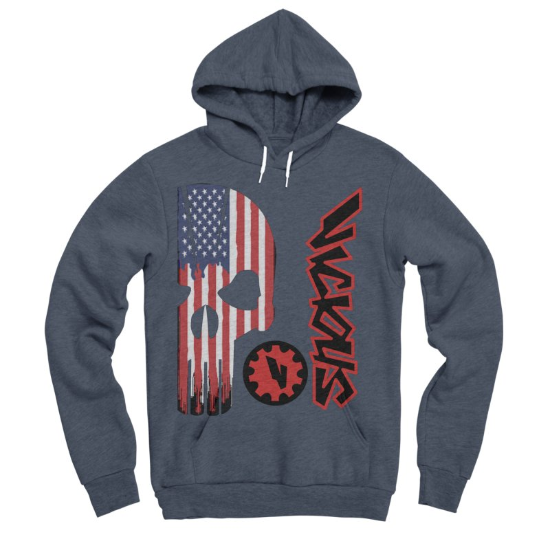 Made in the USA Men's Sponge Fleece Pullover Hoody by Vicious Factory