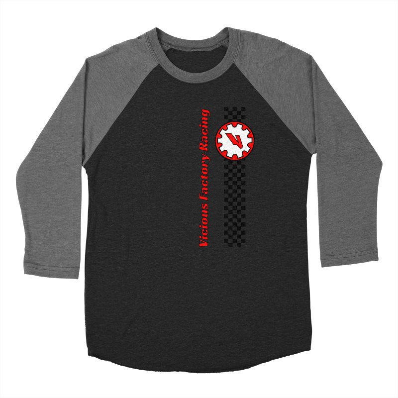 Vicious Factory Racing Gear Men's Baseball Triblend Longsleeve T-Shirt by Vicious Factory