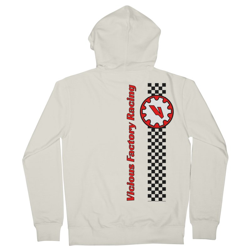Vicious Factory Racing Gear Men's French Terry Zip-Up Hoody by Vicious Factory