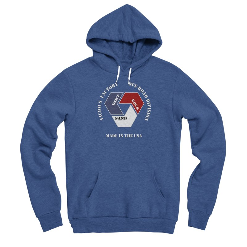 VICIOUS FACTORY OFF-ROAD  MADE IN THE USA Men's Sponge Fleece Pullover Hoody by Vicious Factory