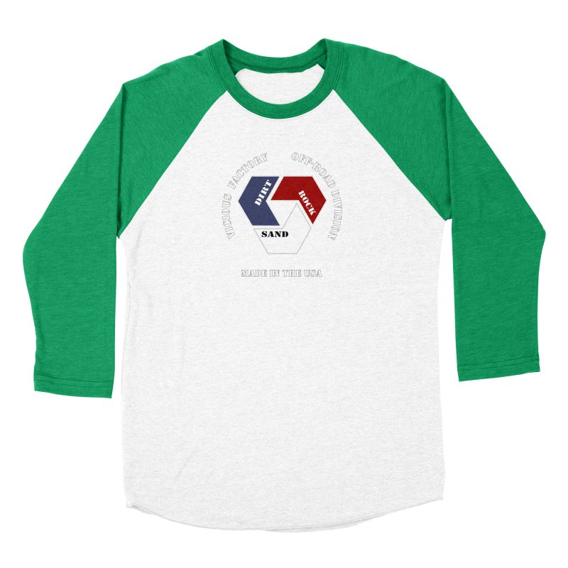 VICIOUS FACTORY OFF-ROAD  MADE IN THE USA Women's Baseball Triblend Longsleeve T-Shirt by Vicious Factory