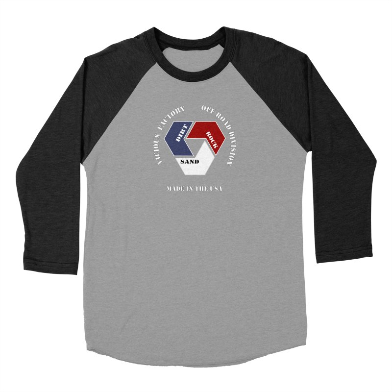 VICIOUS FACTORY OFF-ROAD  MADE IN THE USA Men's Baseball Triblend Longsleeve T-Shirt by Vicious Factory