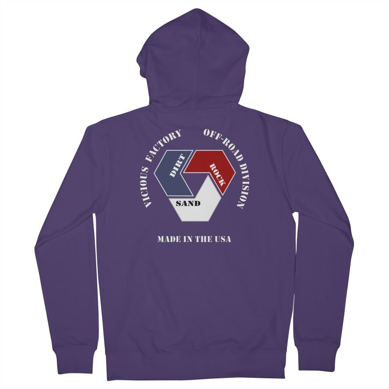 VICIOUS FACTORY OFF-ROAD  MADE IN THE USA Women's French Terry Zip-Up Hoody by Vicious Factory