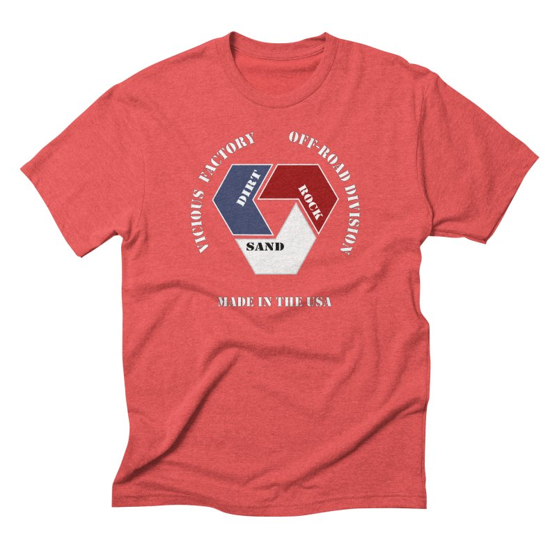 VICIOUS FACTORY OFF-ROAD  MADE IN THE USA Men's Triblend T-Shirt by Vicious Factory