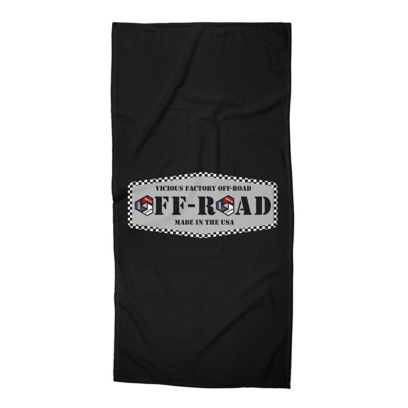 VICIOUS FACTORY OFF-ROAD VINTAGE Accessories Beach Towel by Vicious Factory
