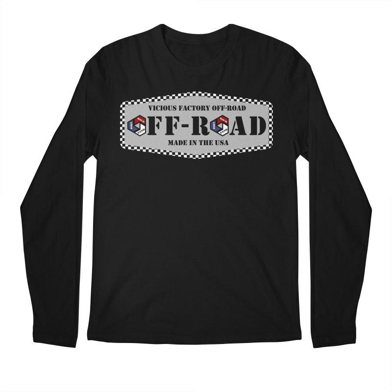 VICIOUS FACTORY OFF-ROAD VINTAGE Men's Regular Longsleeve T-Shirt by Vicious Factory