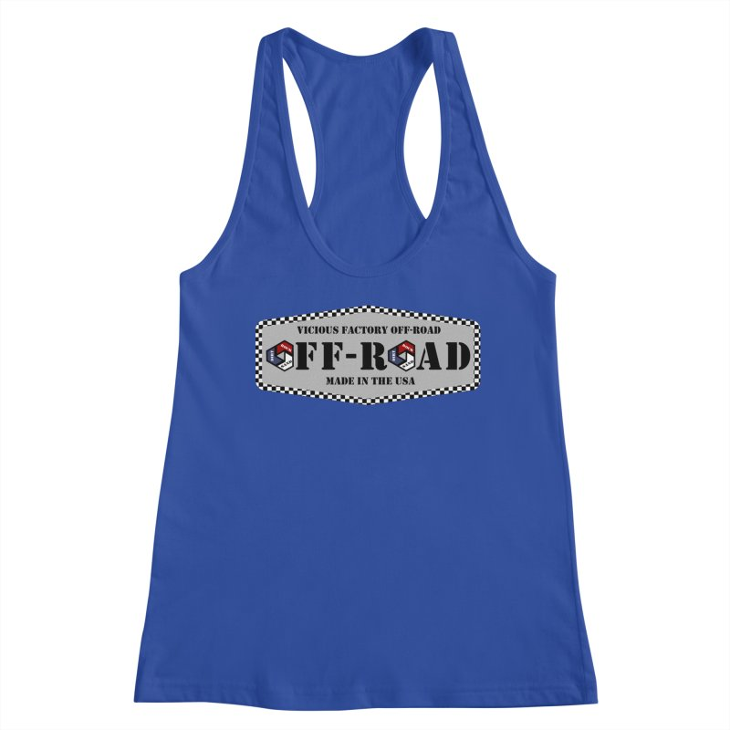 VICIOUS FACTORY OFF-ROAD VINTAGE Women's Racerback Tank by Vicious Factory