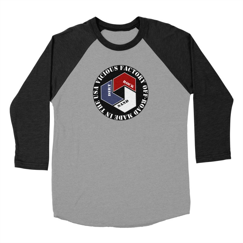 VICIOUS FACTORY OFF-ROAD LETS ROLL Women's Baseball Triblend Longsleeve T-Shirt by Vicious Factory