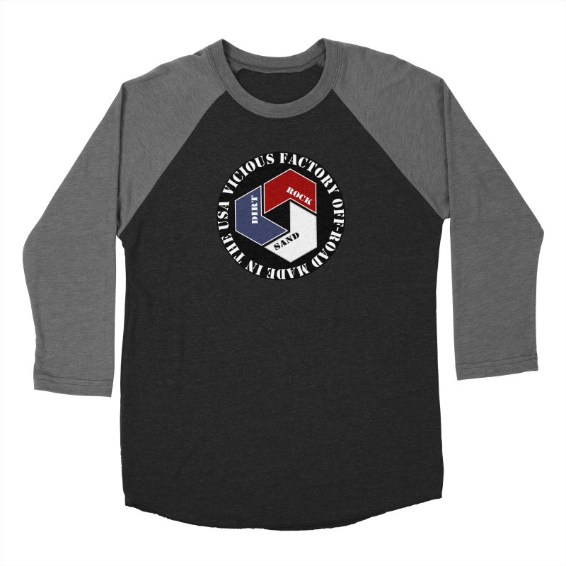 VICIOUS FACTORY OFF-ROAD LETS ROLL Men's Baseball Triblend Longsleeve T-Shirt by Vicious Factory
