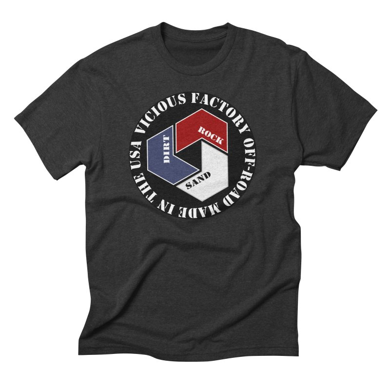 VICIOUS FACTORY OFF-ROAD LETS ROLL Men's Triblend T-Shirt by Vicious Factory