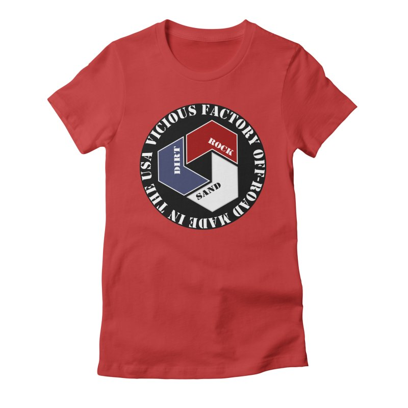 VICIOUS FACTORY OFF-ROAD LETS ROLL Women's Fitted T-Shirt by Vicious Factory
