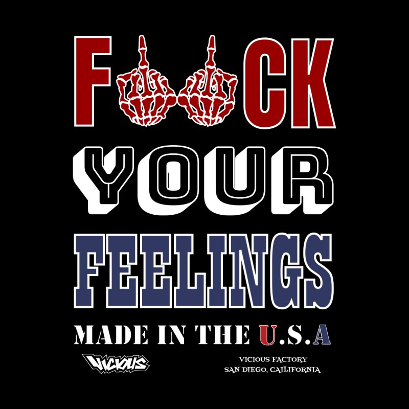 VICIOUS FACTORY F*CK YOUR FEELINGS Accessories Face Mask by Vicious Factory