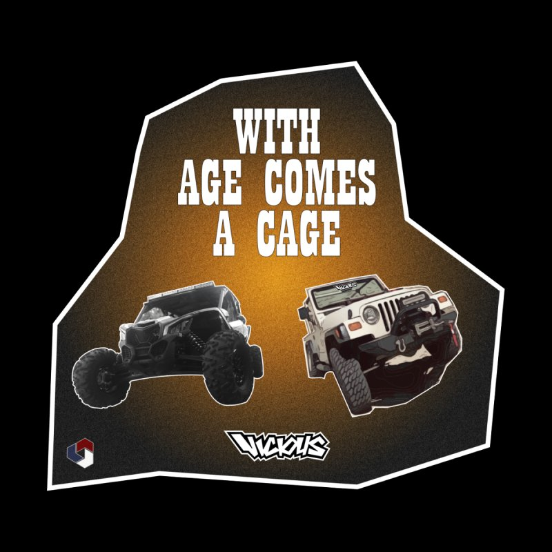 WITH AGE COMES A CAGE Accessories Face Mask by Vicious Factory