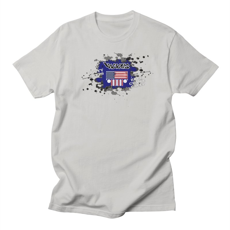 VICIOUS 2020 DIRTY JEEPS RED WHITE AND BLUE Men's T-Shirt by Vicious Factory