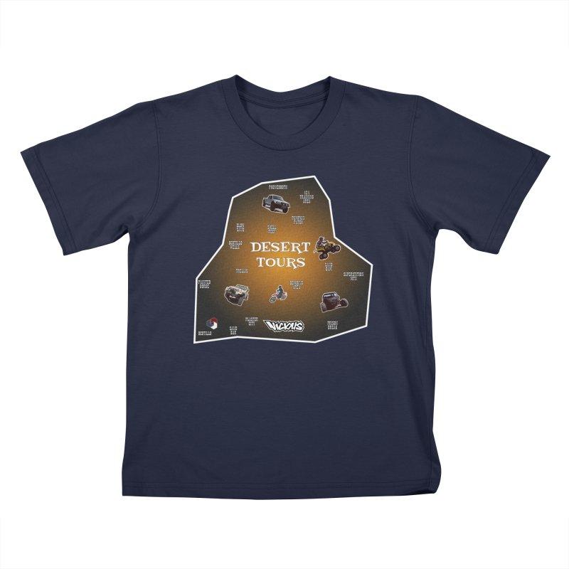 DESERT TOURS, PICK A SPOT LETS RIDE Kids T-Shirt by Vicious Factory