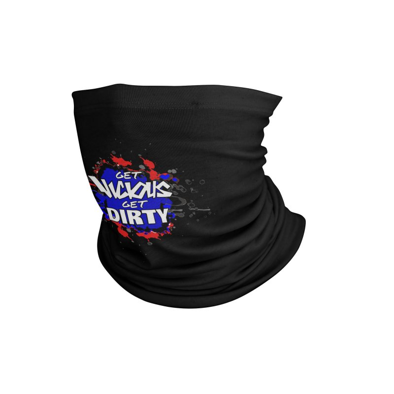GET VICIOUS GET DIRTY RED WHITE BLUE Accessories Neck Gaiter by Vicious Factory
