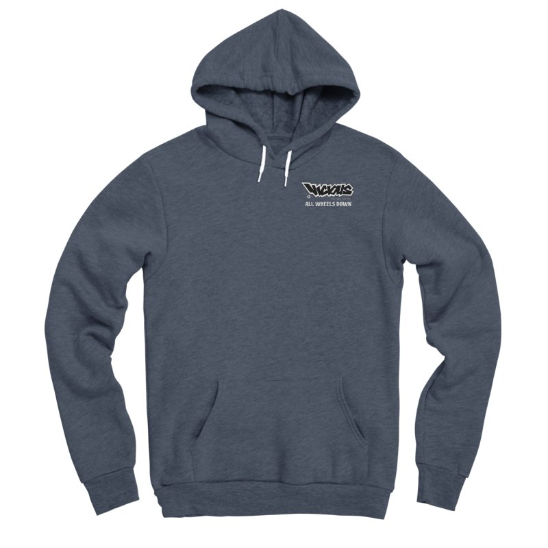 ALL WHEELS DOWN Women's Pullover Hoody by Vicious Factory