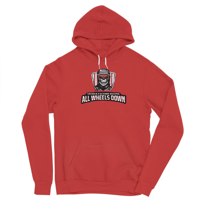 ALL WHEELS DOWN VFR Women's Pullover Hoody by Vicious Factory