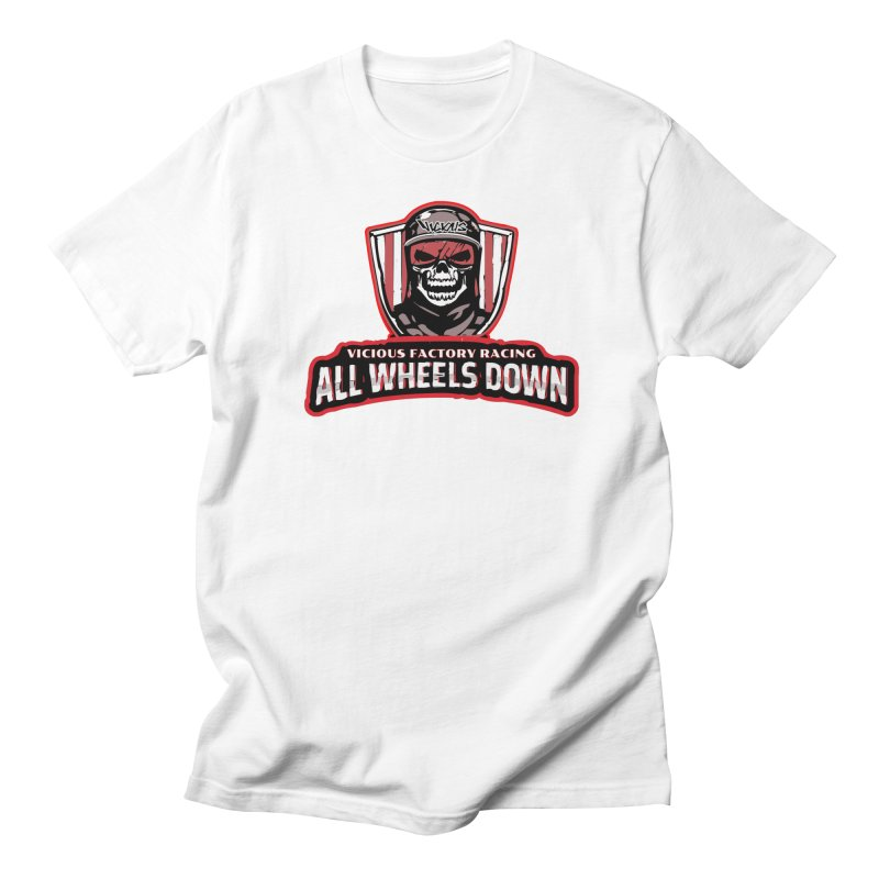 ALL WHEELS DOWN VFR Men's T-Shirt by Vicious Factory