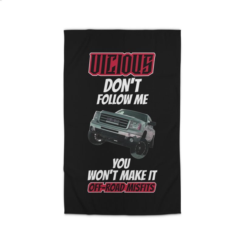 Customizable DONT FOLLOW ME email us a picture of your ride Home Rug by Vicious Factory