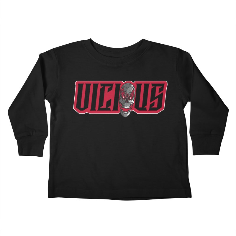 VICIOUS SKULL Kids Gear Toddler Longsleeve T-Shirt by Vicious Factory