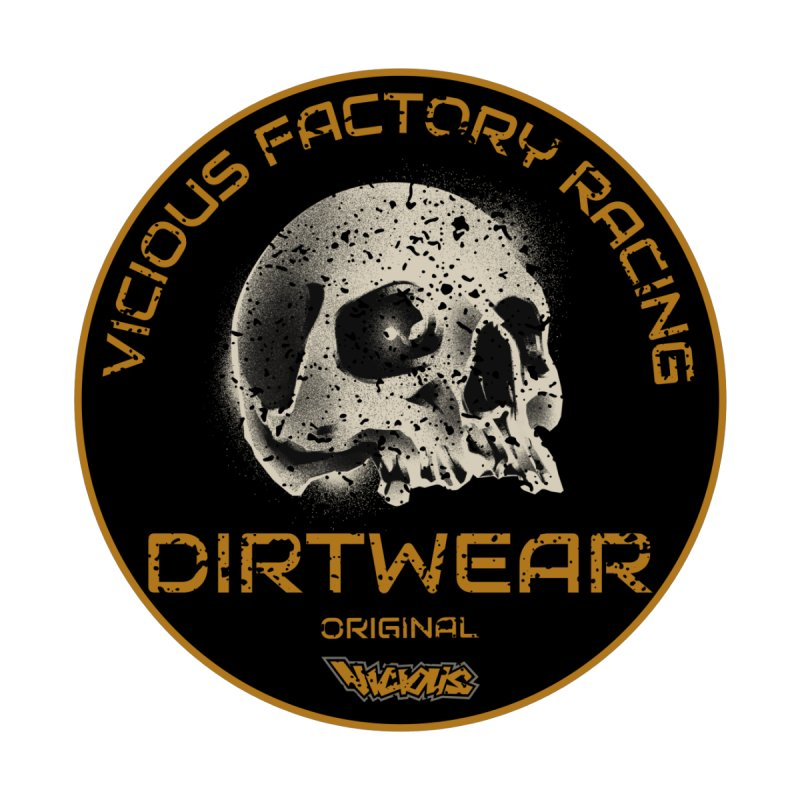 VF RACING DIRTWEAR left chest Men's Gear T-Shirt by Vicious Factory