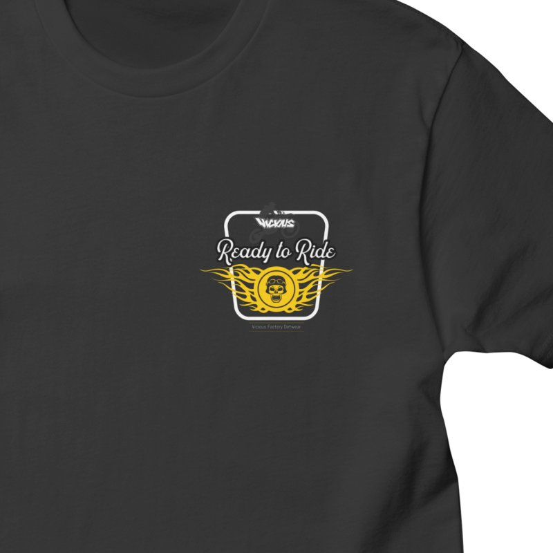 READY T0 RIDE Men's Gear T-Shirt by Vicious Factory