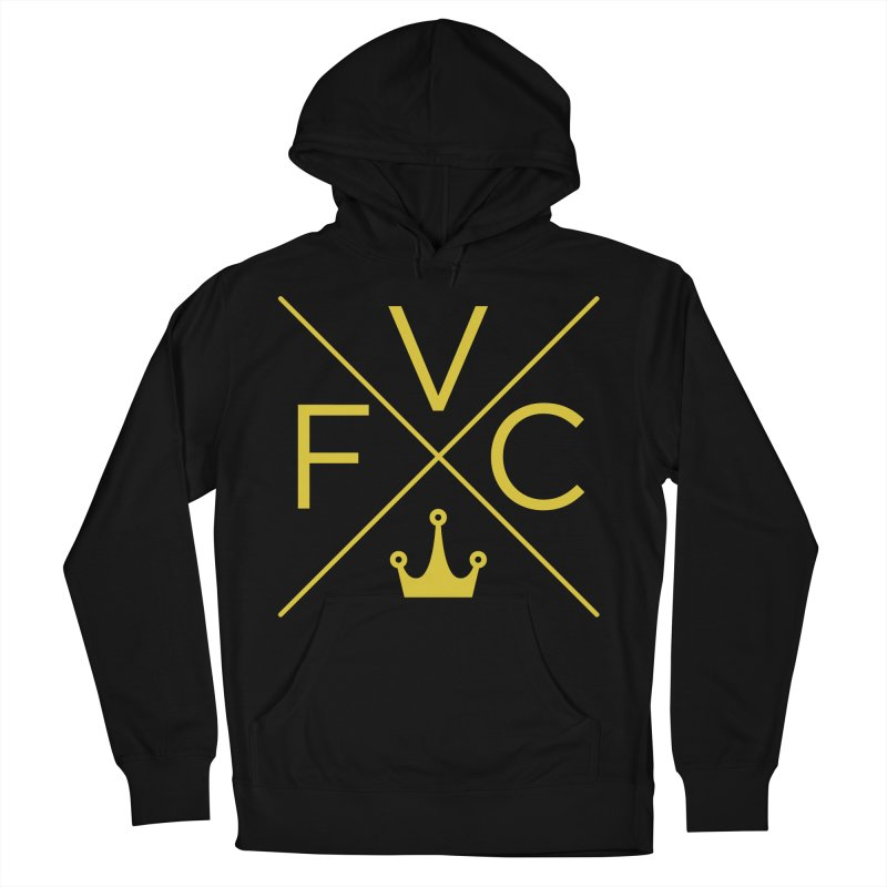 Victory Cross Gold  Men's French Terry Pullover Hoody by Victory Fighting Championship Shop