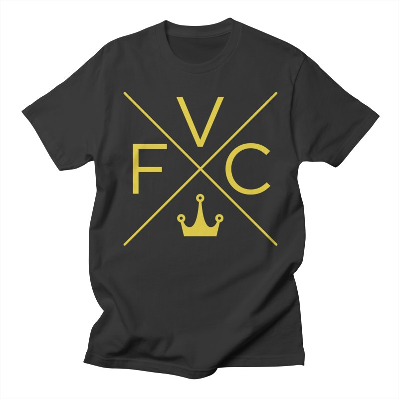 Victory Cross Gold  Men's Regular T-Shirt by Victory Fighting Championship Shop
