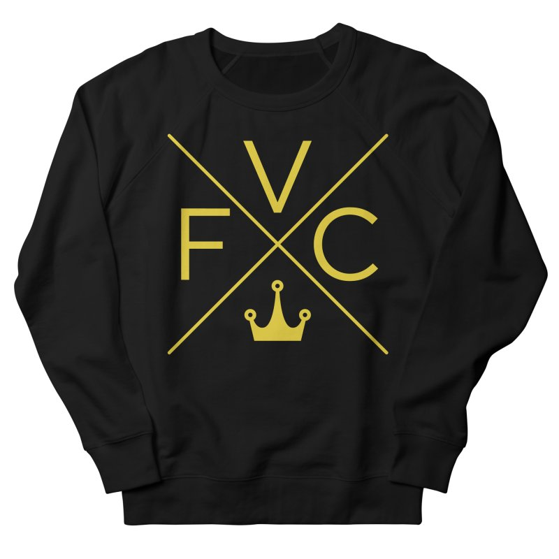 Victory Cross Gold  Men's French Terry Sweatshirt by Victory Fighting Championship Shop