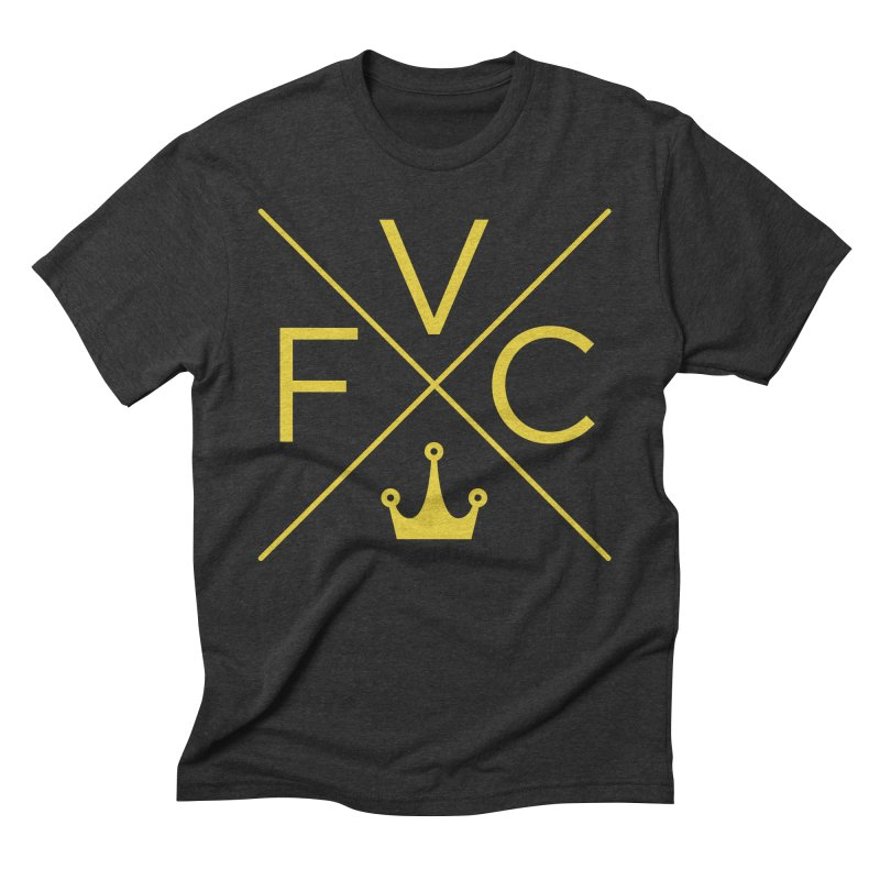 Victory Cross Gold  Men's Triblend T-Shirt by Victory Fighting Championship Shop