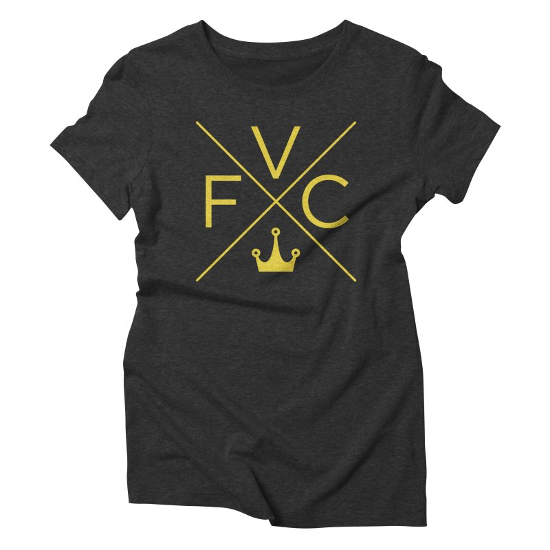 Victory Cross Gold  Women's Triblend T-Shirt by Victory Fighting Championship Shop
