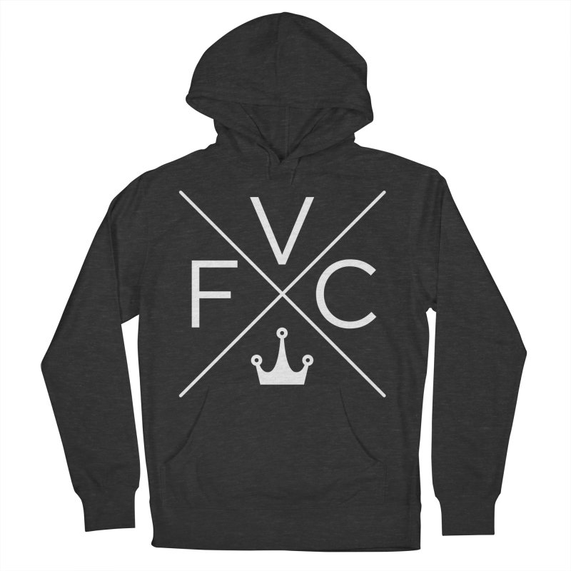 Victory Cross White Men's French Terry Pullover Hoody by Victory Fighting Championship Shop