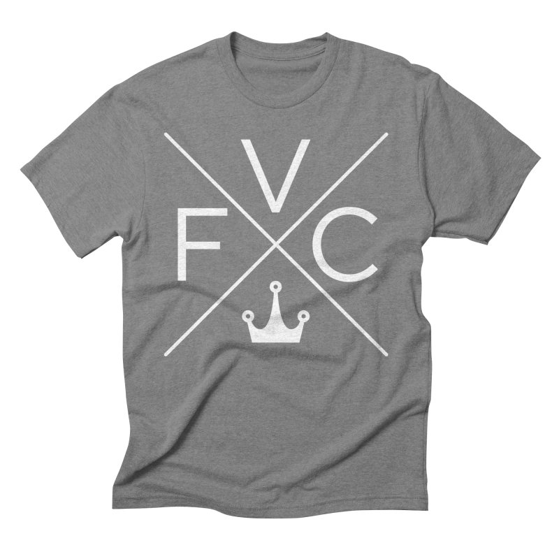 Victory Cross White Men's Triblend T-Shirt by Victory Fighting Championship Shop
