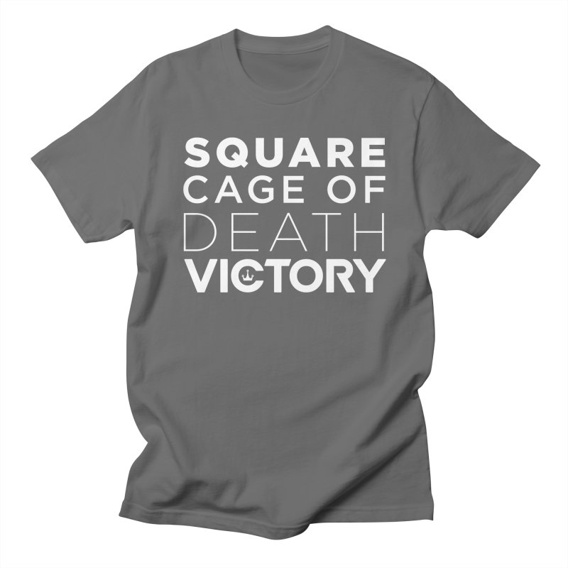 Square Cage of Death White Men's T-Shirt by Victory Fighting Championship Shop