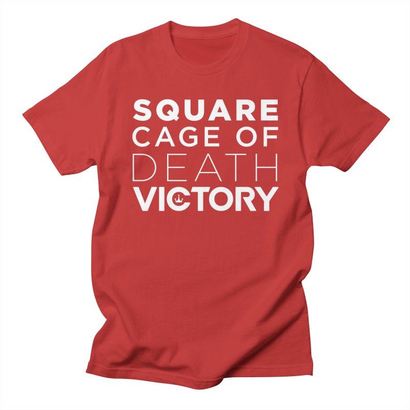 Square Cage of Death White Men's Regular T-Shirt by Victory Fighting Championship Shop