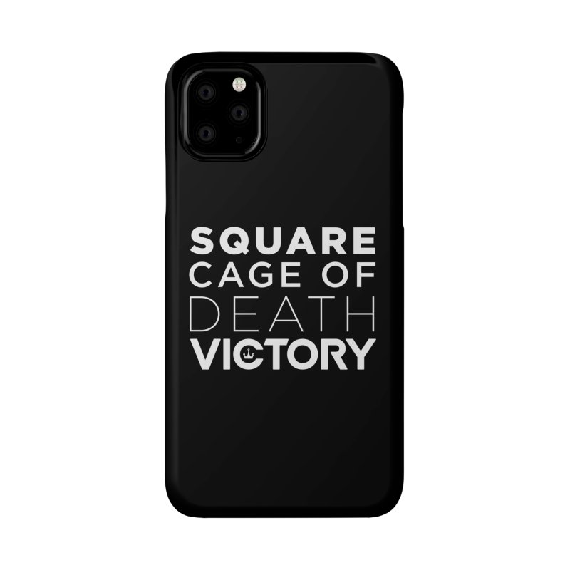 Square Cage of Death White Accessories Phone Case by Victory Fighting Championship Shop