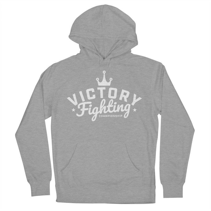 Victory Tribute White Men's French Terry Pullover Hoody by Victory Fighting Championship Shop