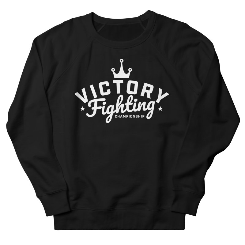 Victory Tribute White Women's French Terry Sweatshirt by Victory Fighting Championship Shop