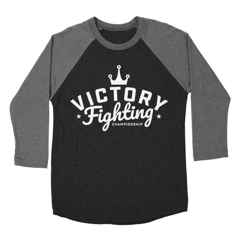 Victory Tribute White Men's Baseball Triblend Longsleeve T-Shirt by Victory Fighting Championship Shop